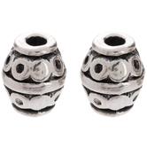 Metal Barrel Beads - 6mm x 8mm