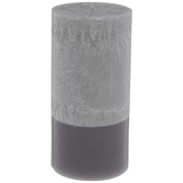 Gray Crystalized Pillar Candle