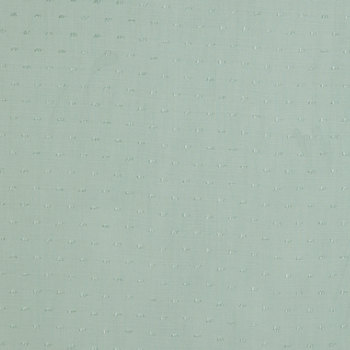 Mint Slub Swiss Dot Apparel Fabric