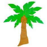 Palm Tree Jointed Cutout