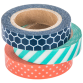 Honeycomb, Polka Dot & Striped Washi Tape