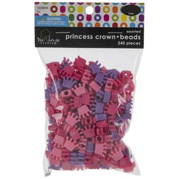 Princess Crown Plastic Beads