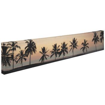 Palm Tree Sunset Canvas Wall Decor