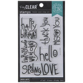 Handwritten Messages Clear Stamps