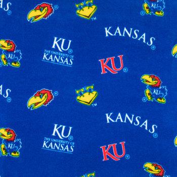 Kansas Allover Collegiate Fleece Fabric