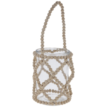 Glass Jar With Beaded Holder
