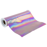 Rose Holographic Faux Leather Ribbon - 8""