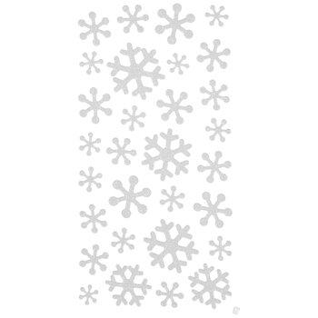 White Glitter Snowflake Stickers