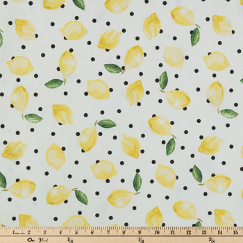 Lemon Dot Duck Cloth Fabric