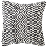 Black, Gray & White Wool Kilim Pillow Cover
