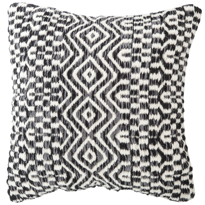 Boho Pillow Black Gray Off-White Kilim Pillow Cover designer Woven Pillow decorative pillow Black and White pillow