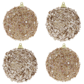 Rose Gold Sequin Ball Ornaments