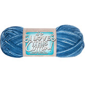 Denim Blue Print I Love This Cotton Yarn