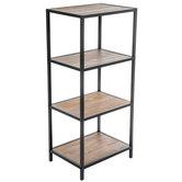 Four-Tiered Metal Shelf