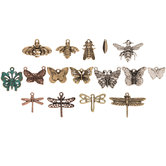 Butterfly, Dragonfly & Bee Charm Mix