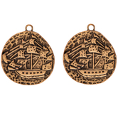 Ship Coin Pendants
