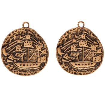 Ship Coin Pendants