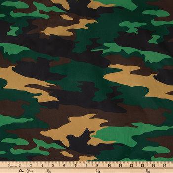 Green Camo Utility Fabric