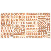 Orange Old Style Alphabet Stickers