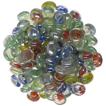 Transparent Cat's Eye Glass Mosaic Gems