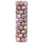 Pink Matte, Shiny & Glitter Ball Ornaments