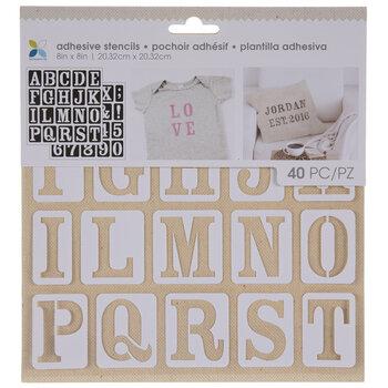Serif Uppercase Alphabet Adhesive Stencils