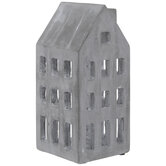 Gray Building Cement Candle Holder