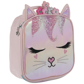Pink Iridescent Kitty Lunch Box