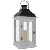 White & Brown Wood Lantern