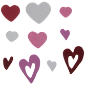 Red, Pink & White Heart Foam Stickers