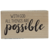 With God Rubber Stamp
