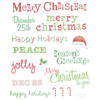 Christmas Phrases Stickers