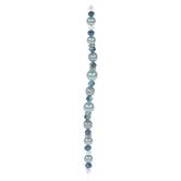 Blue Glass Pearl & Rhinestone Bead Strand