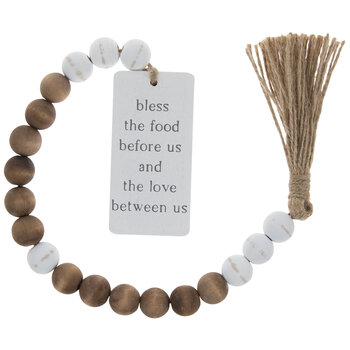 Bless The Food Beaded Garland