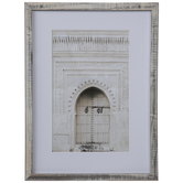 White Carved Door Framed Wall Decor