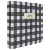 Black & White Buffalo Check Recipe Organizer