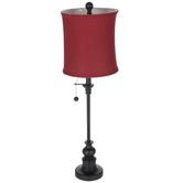 Red & Black Metal Lamp