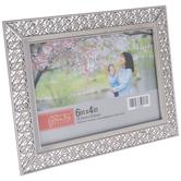 "Silver Ornate Scroll Metal Frame - 6"" x 4"""