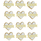 Mr & Mrs Heart 3D Stickers