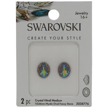 Crystal Vitrail Medium Swarovski Mystic Oval Fancy Stones - 10mm x 8mm