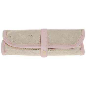 Pink & Gold Rolled Pouch