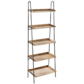 Industrial Five-Tiered Shelf