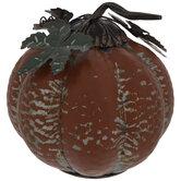Galvanized Metal Pumpkin