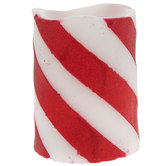Candy Cane Striped LED Candle