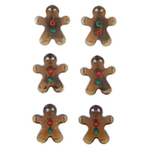 Brown Gingerbread Men Rhinestone Stickers