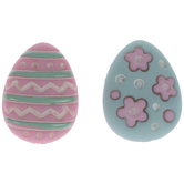 Pink & Teal Easter Egg Shank Buttons