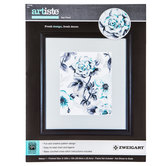Teal Floral Counted Cross Stitch Kit