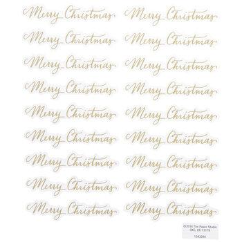 Gold Foil Merry Christmas Script Stickers
