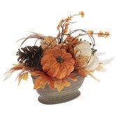 Pumpkin & Leaves Arrangement