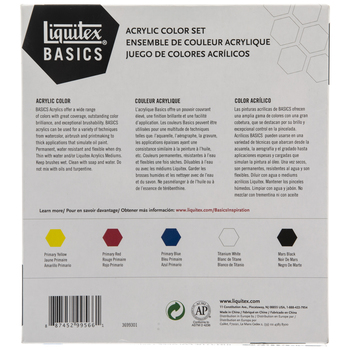 Basics Acrylic Paint - 5 Piece Set